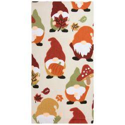 Ritz Harvest Mushroom Pumpkin Gnome Kitchen Towel