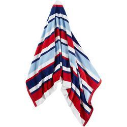 Velour Stripe Beach Towel