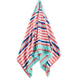 Textured Stripe Beach Towel