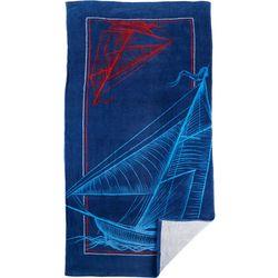 Arkwright Nautical Sailboat Beach Towel