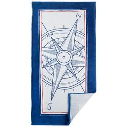 Arkwright Nautical Compass Beach Towel