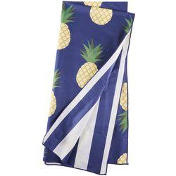 Great Bay Home Pineapple & Stripe Beach Towel