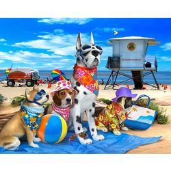Beach Dogs Beach Towel