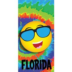 Tie Dye Florida Beach Towel