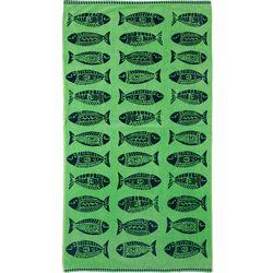 Row of Fish Beach Towel
