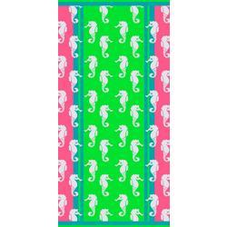 Seahorse Confetti Beach Towel