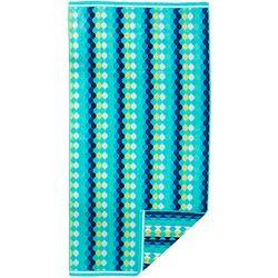 Pisces Global Striped Diamond Drop Beach Towel