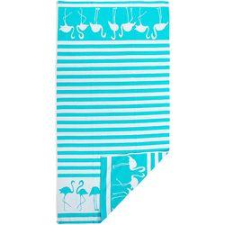 Pisces Global Dancing Flamingo Beach Towel