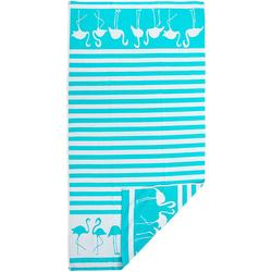 Dancing Flamingo Beach Towel