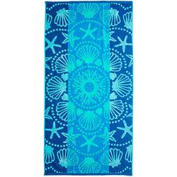 Pisces Global Shell Mandala Beach Towel