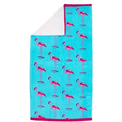 Pisces Global Flamingo Row Beach Towel