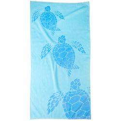 Tropix Turtles Blue Beach Towel