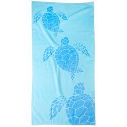 Turtles Blue Beach Towel