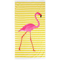 Tropix Flamingo Stripe Beach Towel