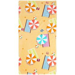 Colorful Beach Umbrella Beach Towel