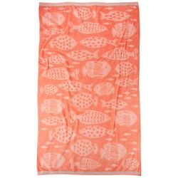 Coastal Home Underwater Fish Beach Towel