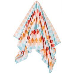 Coastal Home Shell Tile Beach Towel