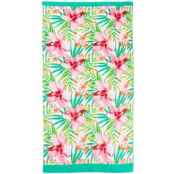 Tropical Hibiscus Beach Towel
