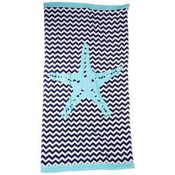 Chevron Starfish Beach Towel