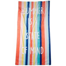 Coastal Home Summer Is A State Of Mind Beach Towel