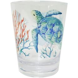 15 oz Summer Sealife Double Old Fashioned Glass