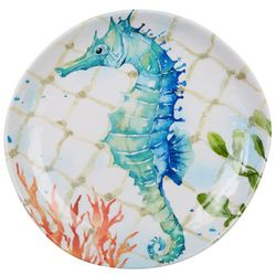 Coastal Home Summer Sealife Seahorse Appetizer Plate