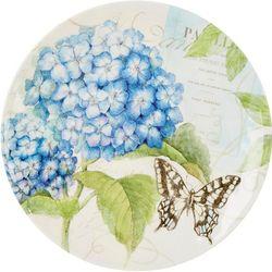 Certified International Hydrangea & Butterfly Platter