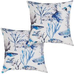 2-pk. Fish Decorative Pillow Set