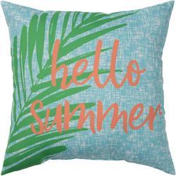 Hello Summer Outdoor Pillow