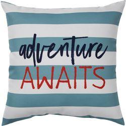 Adventure Awaits Outdoor Pillow