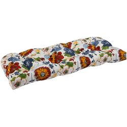 Brentwood Sunflower Print Wicker Loveseat Cushion