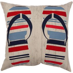 Flip Flop Stripe Outdoor Pillow