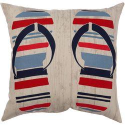 Flip Flop Stripe Outdoor Pillow