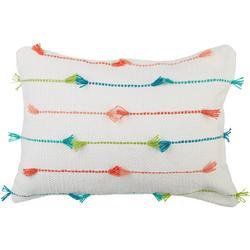 Fringe Stripe Decorative Pillow