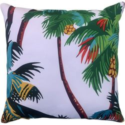 Cosmic Palm Trees Decorative Pillow