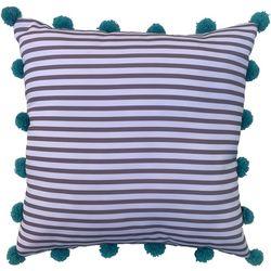 Cosmic Stripe Pom Pom Decorative Pillow