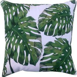 Cosmic Palm Leaf Print Decorative Pillow