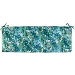 Home Fashion Sanya Tropical Leaf Bench Cushion
