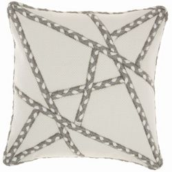 Mina Victory Abstract Stripe Outdoor Decorative Pillow