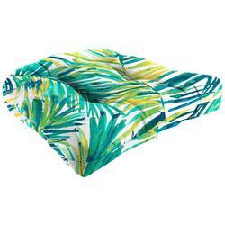 Coastal Palm Wicker Chair Cushion