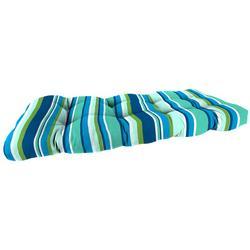 Striped Wicker Settee Chair Cushion
