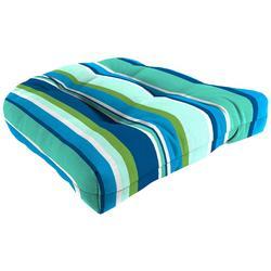 Piper Stripe Wicker Chair Cushion