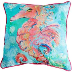Leoma Lovegrove Sea Pony Outdoor Decorative Pillow
