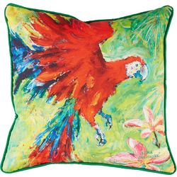 Leoma Lovegrove Scarlet Outdoor Decorative Pillow