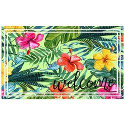 Apache Mills Tropical Hibiscus Welcome Doormat