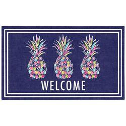 Apache Mills Tropical Pineapple Welcome Doormat