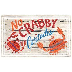 Apache Mills No Crabby Attitudes Welcome Doormat