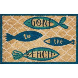 Gone To The Beach Coir Outdoor Mat