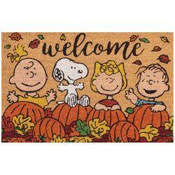 Nourison Peanuts Welcome Pumpkin Patch Coir Doormat