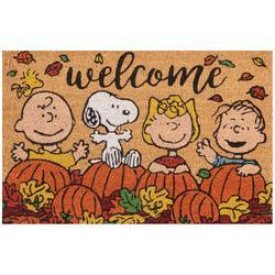 Peanuts Welcome Pumpkin Patch Coir Doormat